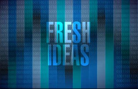 Fresh Ideas binary background sign concept illustration design graphic
