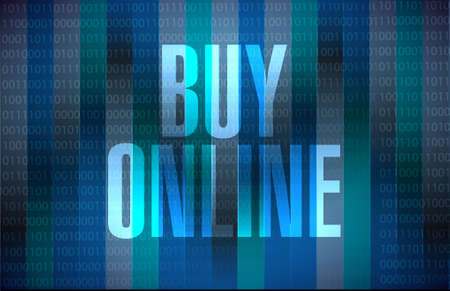 binary background: buy online binary background sign illustration design graphic