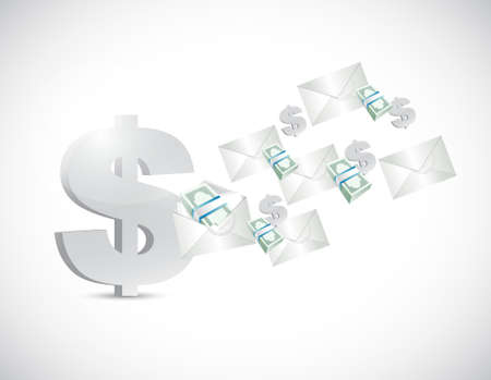 transfers: dollar business transfers concept illustration design graphic Illustration