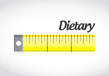 dietary measuring tape concept illustration design graphic