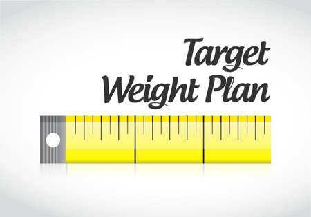 target weight plan measuring tape illustration design graphic