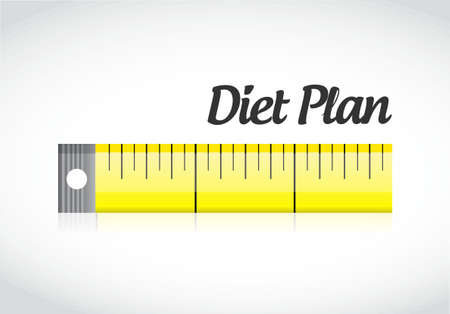 diet plan measuring tape concept illustration design graphic Ilustração