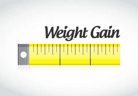 weight gain measuring tape concept illustration design graphic Ilustração