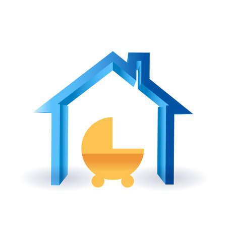 the baby of the house illustration design graphic