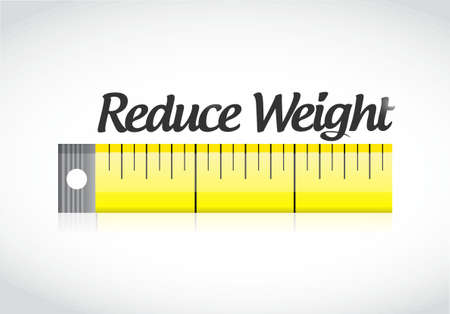 reduce weight measuring tape illustration design graphic