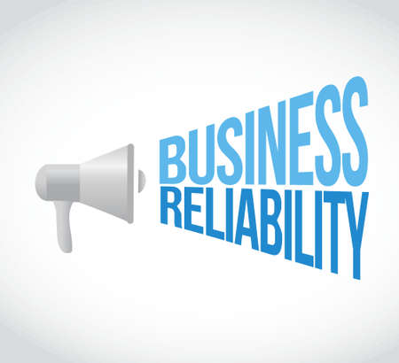 loud speaker: Business reliability loud speaker message illustration design graphic