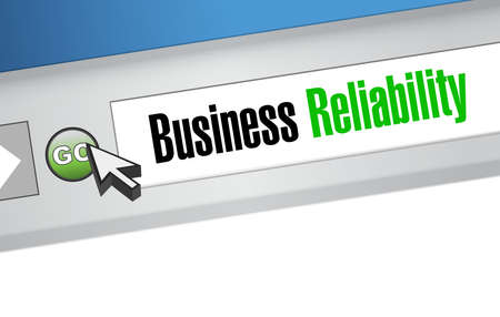 reliability: Business reliability website sign concept illustration design graphic