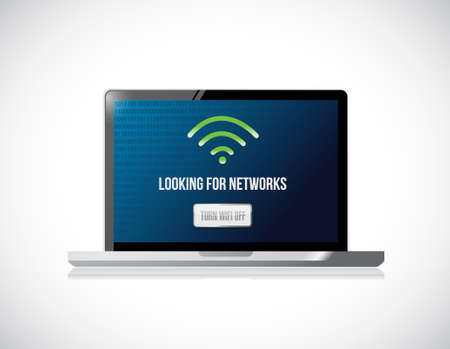 tablet looking for networks message sign concept illustration design Çizim