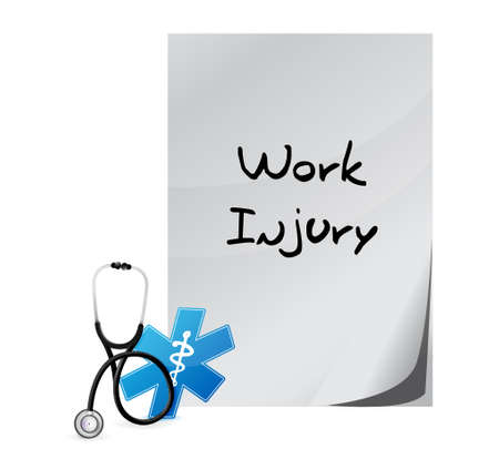 documentation: Working injury documentation sign concept graphic illustration design
