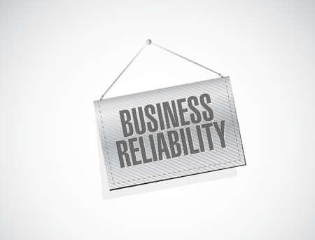 hanging banner: Business reliability hanging banner sign concept illustration design graphic