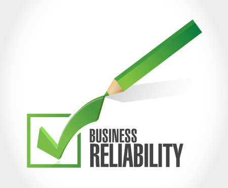 reliability: Business reliability check mark sign concept illustration design graphic Illustration