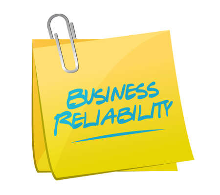 Business reliability memo post sign concept illustration design graphic Illustration