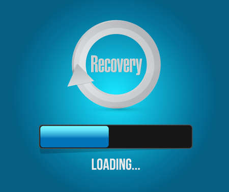 recovery bar concept illustration design graphic over a blue background