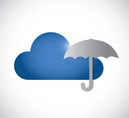 protection over cloud sign concept illustration design graphic