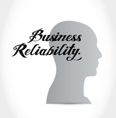 reliability: Business reliability thinking brain concept illustration design graphic