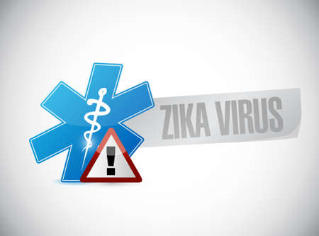 Zika Virus warning sign concept illustration design graphic Illustration