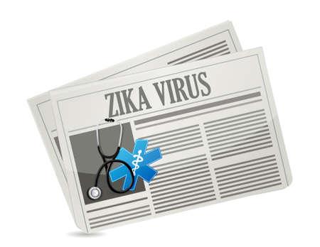remedies: Zika Virus warning news sign concept illustration design graphic