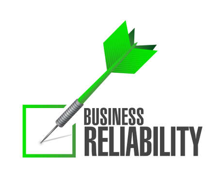 reliability: Business reliability check dart sign concept illustration design graphic Illustration