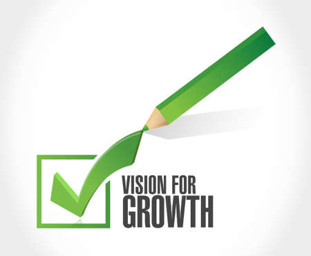 vision for growth check mark sign business concept illustration design graphic 向量圖像