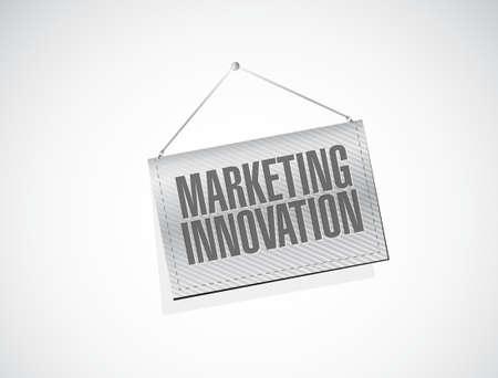 hanging banner: Marketing Innovation hanging banner sign concept illustration design graphic