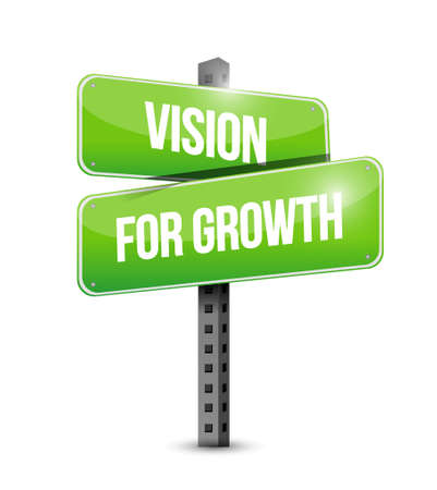 vision for growth street sign business concept illustration design graphic 向量圖像