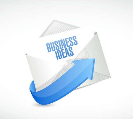 concept and ideas: business ideas mail sign concept illustration design graphic