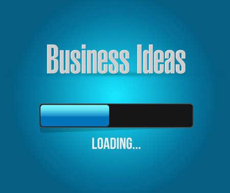 invent clever: business ideas loading bar sign concept illustration design graphic Illustration