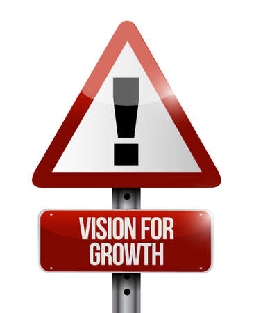 vision concept: vision for growth warning road sign concept illustration design graphic Illustration