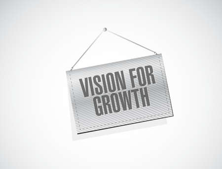 vision concept: vision for growth hanging banner sign concept illustration design graphic
