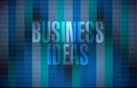 enlightenment: business ideas binary background sign concept illustration design graphic Illustration