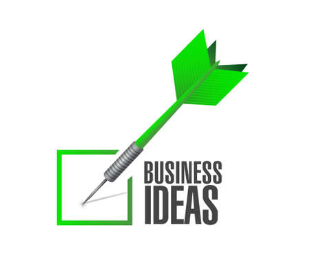 invent clever: business ideas check dart sign concept illustration design graphic