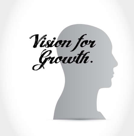 vision for growth thinking brain sign business concept illustration design graphic