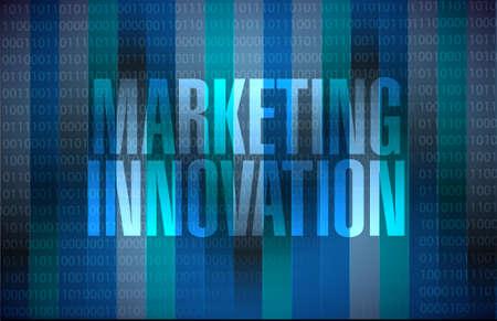 binary background: Marketing Innovation binary background sign concept illustration design graphic