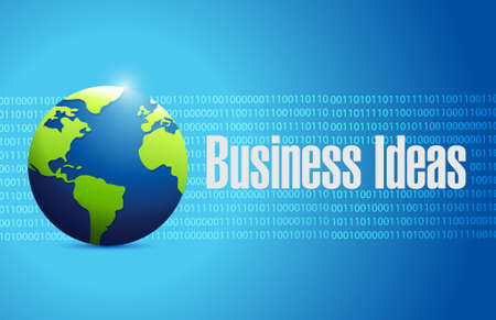 business ideas binary globe sign concept illustration design graphic
