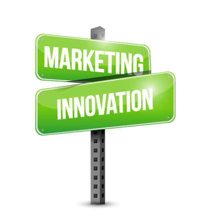 Marketing Innovation street sign concept illustration design graphic