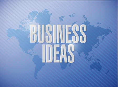 business ideas: business ideas world map sign concept illustration design graphic