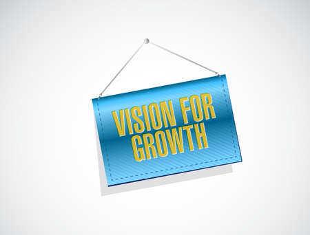 hanging banner: vision for growth hanging banner sign business concept illustration design graphic