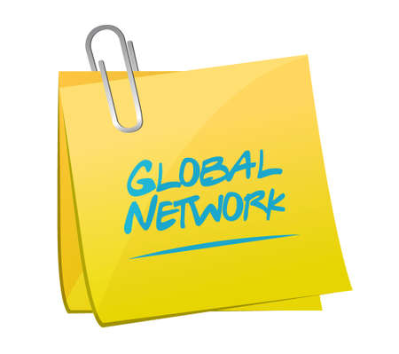 global network memo post sign concept illustration design graphic