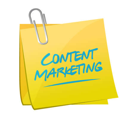 article marketing: content marketing memo post sign concept illustration design graphic