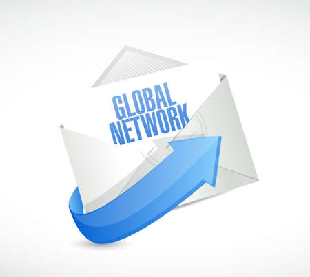 e systems: global network mail sign concept illustration design graphic