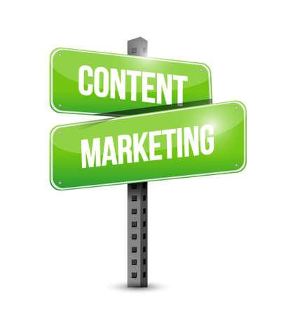 article marketing: content marketing street sign concept illustration design graphic