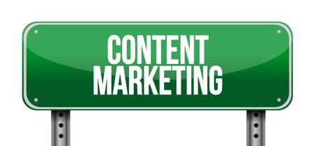 article writing: content marketing horizontal sign concept illustration design graphic