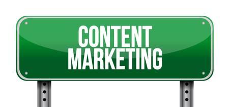 article marketing: content marketing horizontal sign concept illustration design graphic