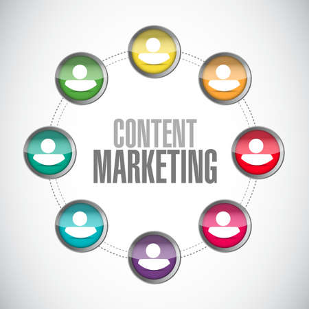 article marketing: content marketing community sign concept illustration design graphic Illustration