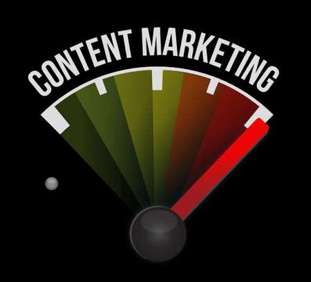 content writing: content marketing meter sign concept illustration design graphic Illustration
