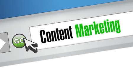 article marketing: content marketing online sign concept illustration design graphic