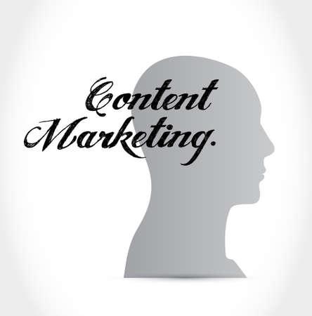 article marketing: content marketing thinking brain sign concept illustration design graphic