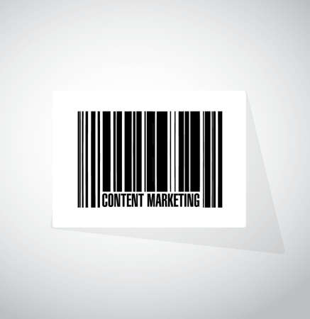 article marketing: content marketing barcode sign concept illustration design graphic