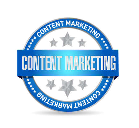 article marketing: content marketing seal sign concept illustration design graphic