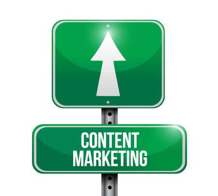 article marketing: content marketing road sign concept illustration design graphic Illustration